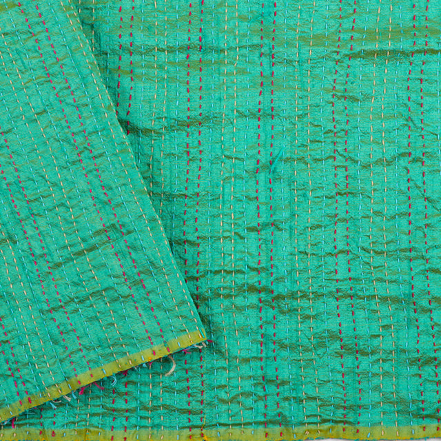 Kanakavalli Kantha Raw Silk Blouse Length 150-06-12043 - Cover View
