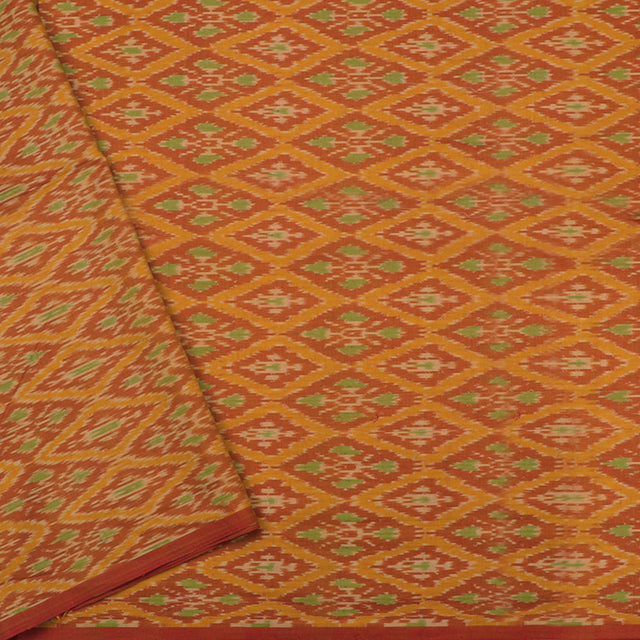 Kanakavalli Ikat Silk/Cotton Blouse Length 140-06-95014 - Cover View