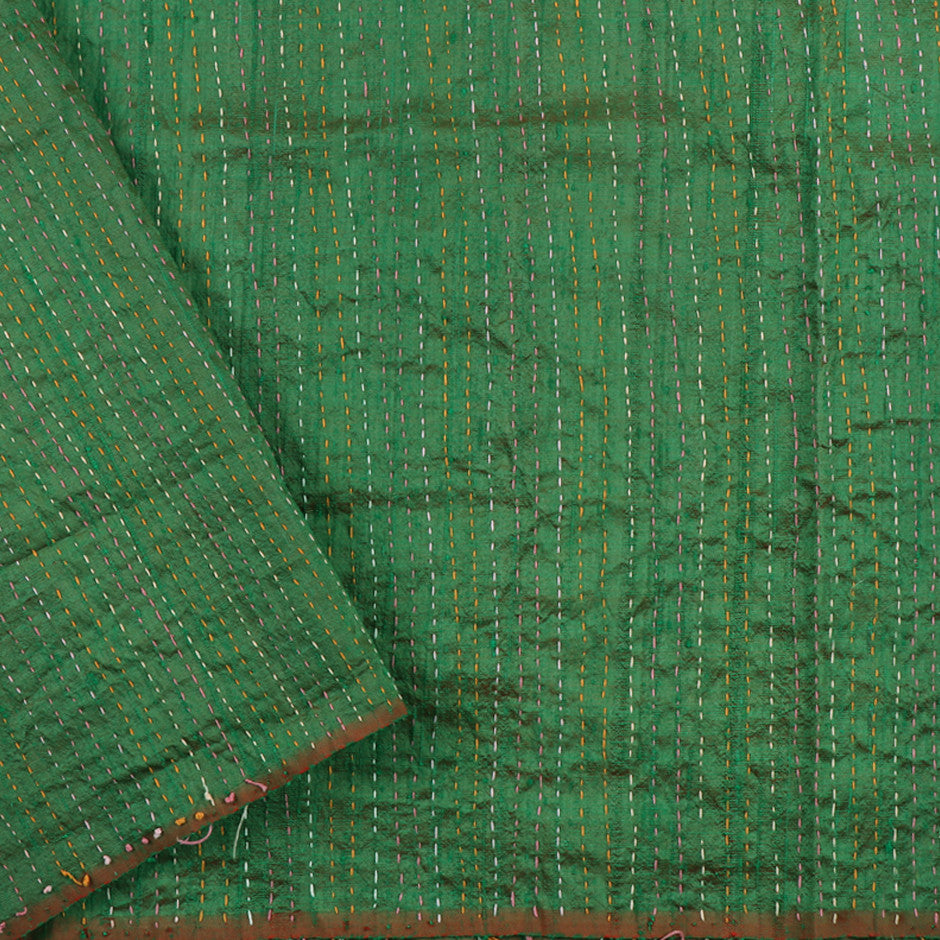 Kanakavalli Kantha Raw Silk Blouse Length 150-06-12050 - Cover View