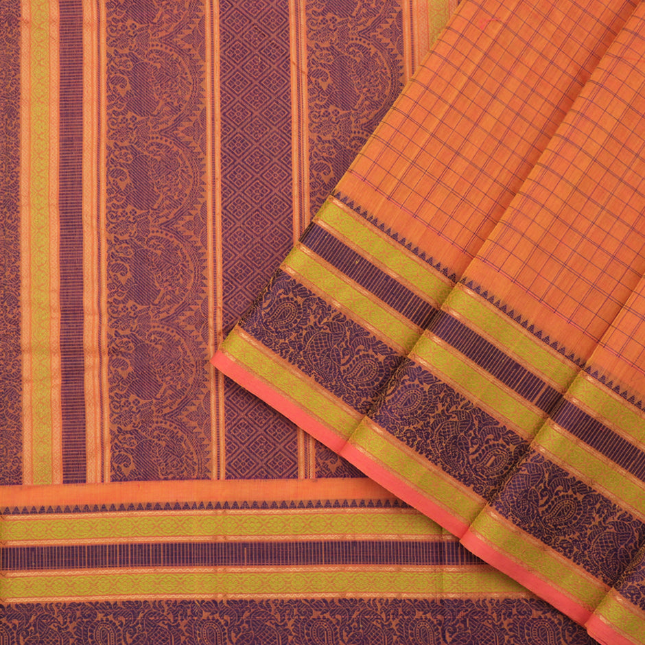 Kanakavalli Kanchi Cotton Sari 071-09-92239 - Cover View