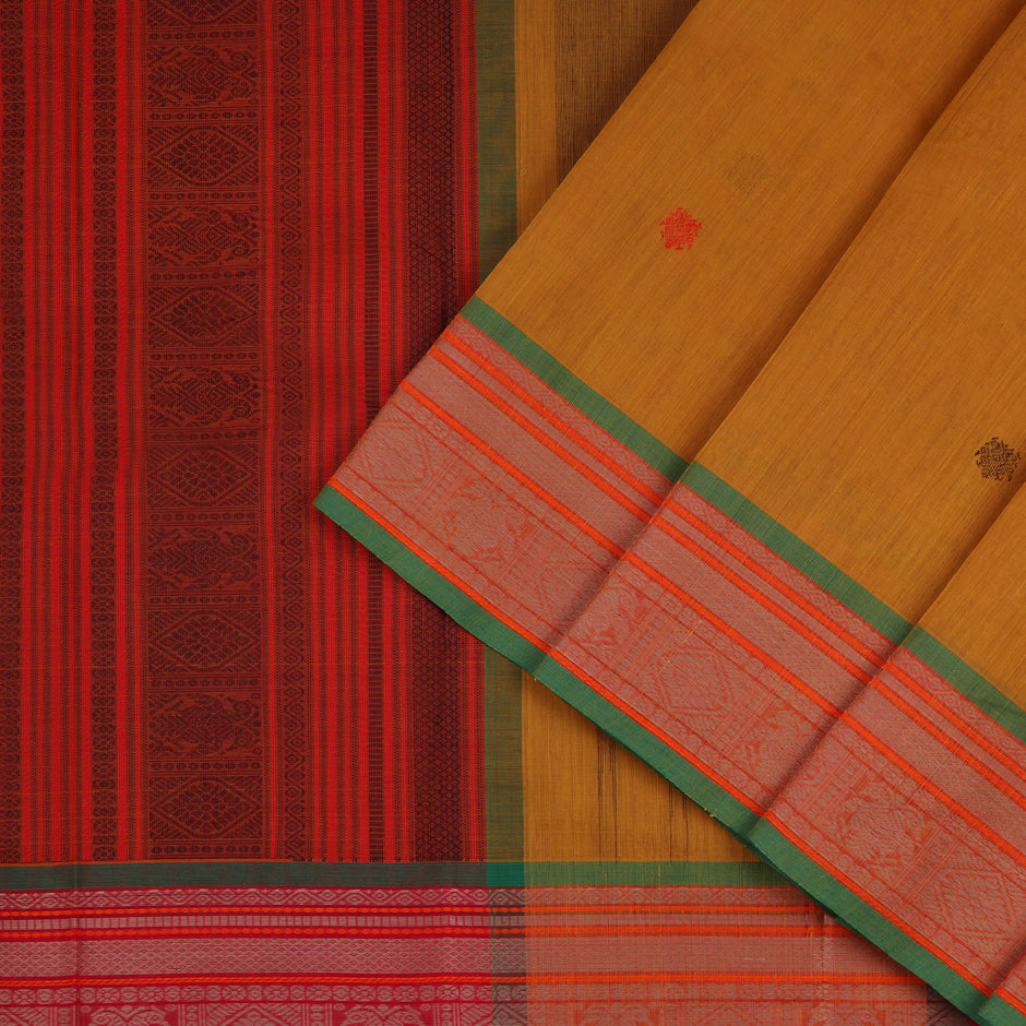 Kanakavalli Kanchi Cotton Sari 071-09-56438 - Cover View