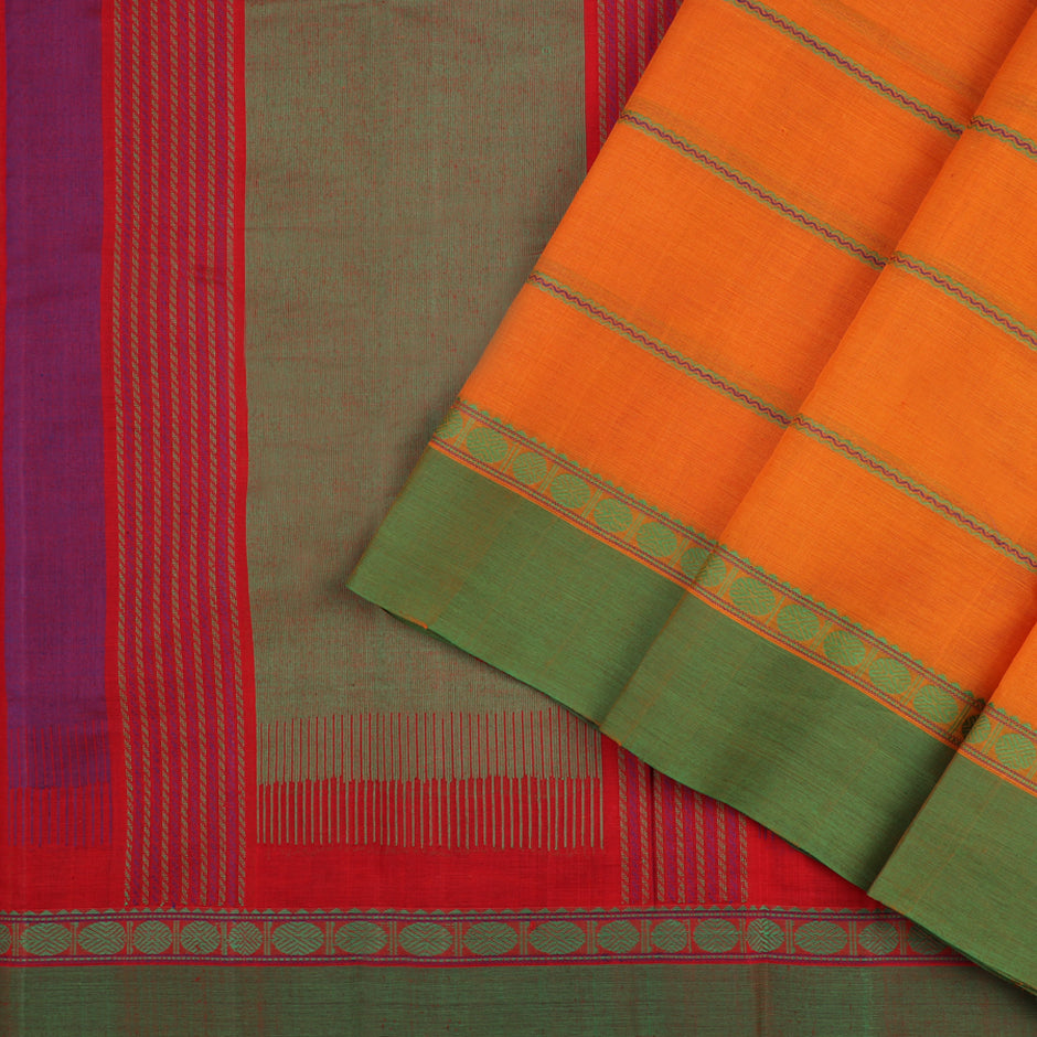 Kanakavalli Kanchi Cotton Sari 071-09-56374 - Cover View