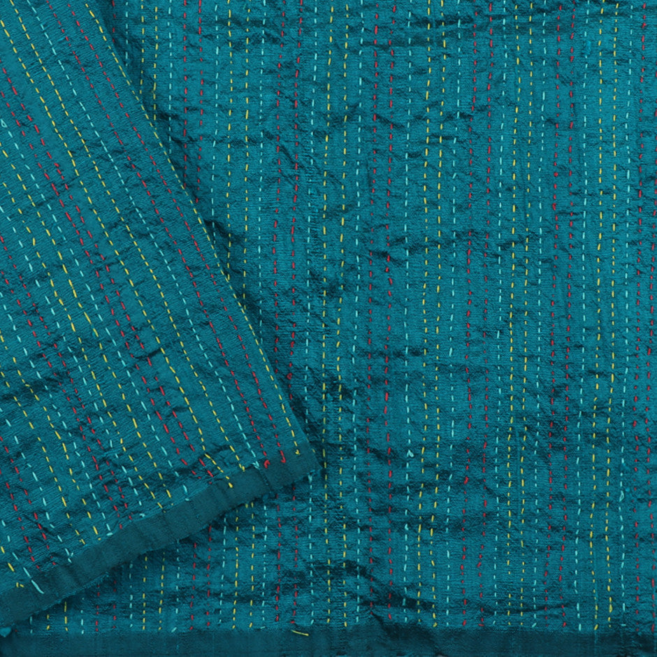Kanakavalli Kantha Raw Silk Blouse Length 150-06-9705 - Cover View