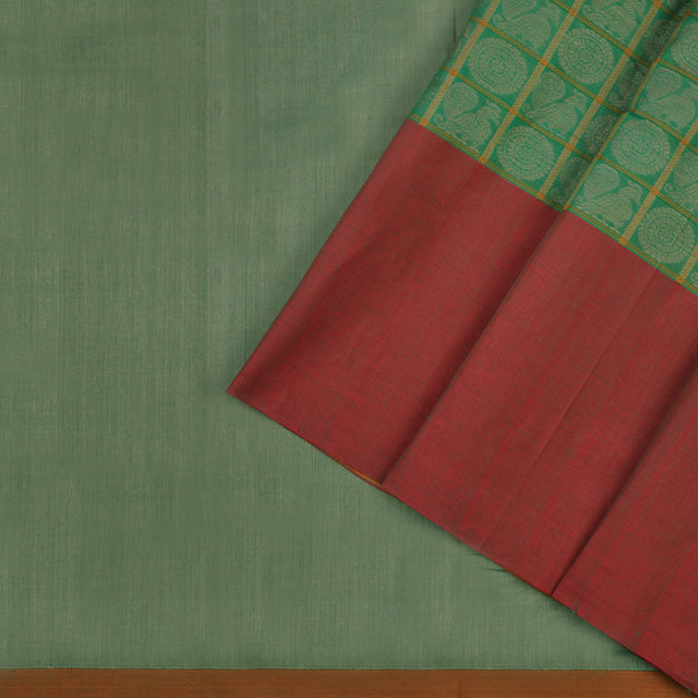 Kanakavalli Kanchi Cotton Sari 071-09-56384 - Cover View