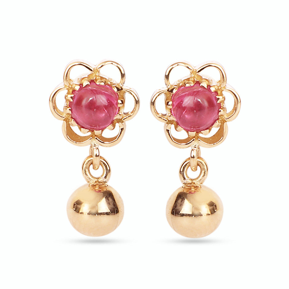 Ahalya Gold & Ruby Baby Earrings 3_4945 - Cover View