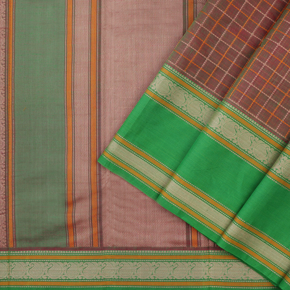 Kanakavalli Kanchi Cotton Sari 071-09-37945 - Cover View