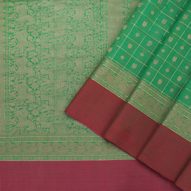 Kanakavalli Kanchi Cotton Sari 071-09-86022 - Cover View