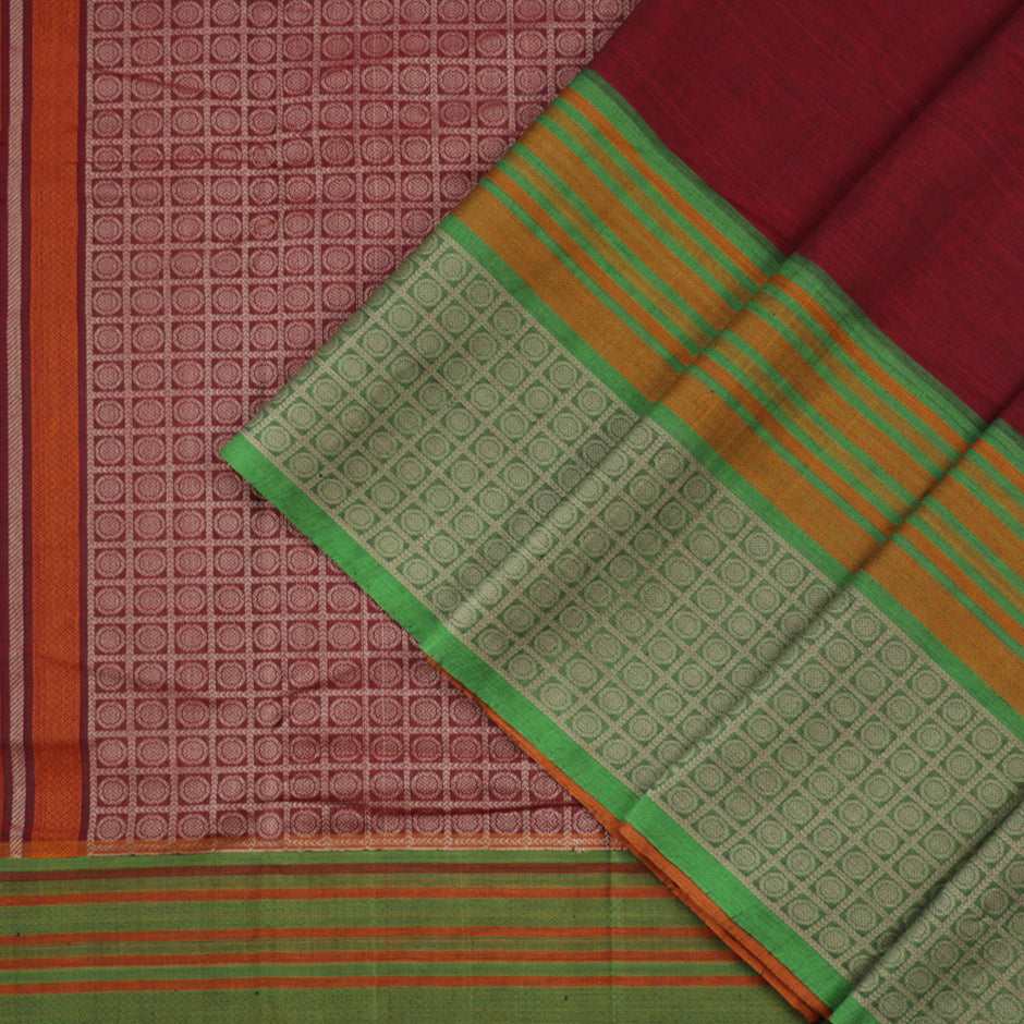 Kanakavalli Kanchi Cotton Sari 071-09-35683 - Cover View