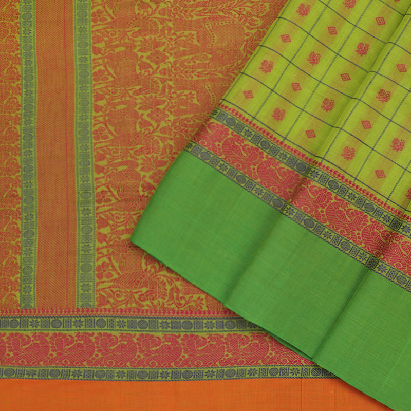 Kanakavalli Kanchi Cotton Sari 071-09-79769 - Cover View