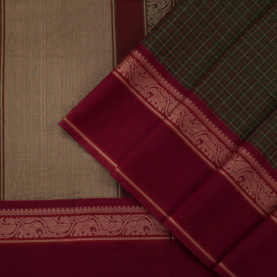 Kanakavalli Kanchi Cotton Sari 071-09-45756 - Cover View