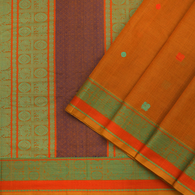 Kanakavalli Kanchi Cotton Sari 071-09-82373 - Cover View