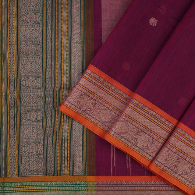 Kanakavalli Kanchi Cotton Sari 071-09-56436 - Cover View