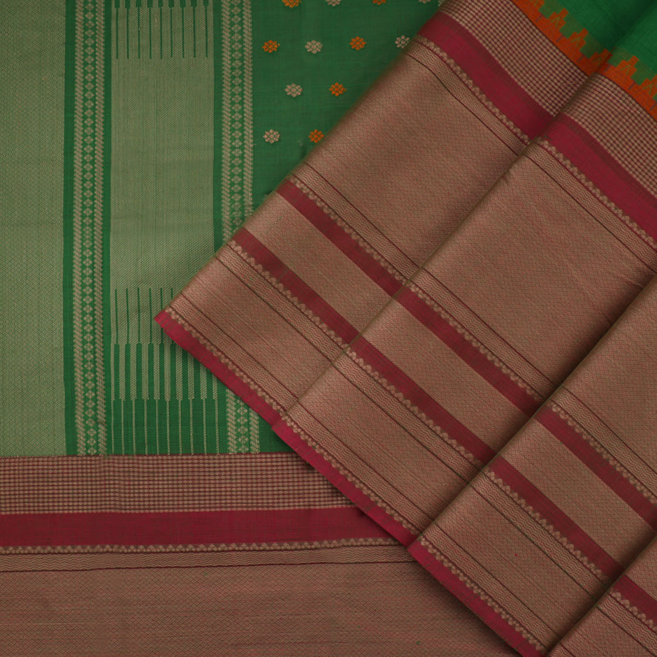 Kanakavalli Kanchi Cotton Sari 071-09-35651 - Cover View