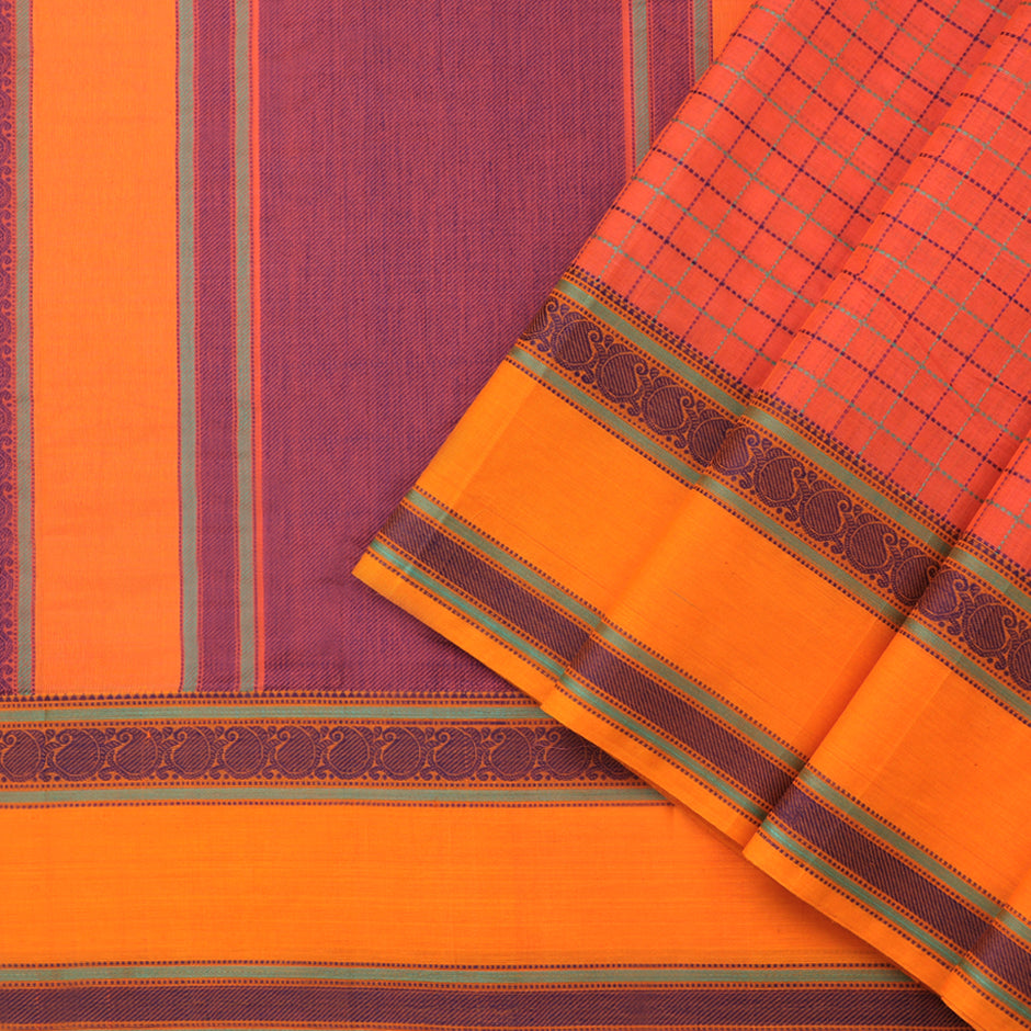 Kanakavalli Kanchi Cotton Sari 071-09-74140 - Cover View