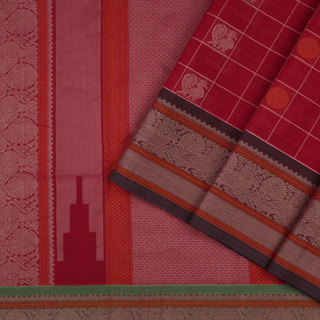 Kanakavalli Kanchi Cotton Sari 071-09-56475 - Cover View