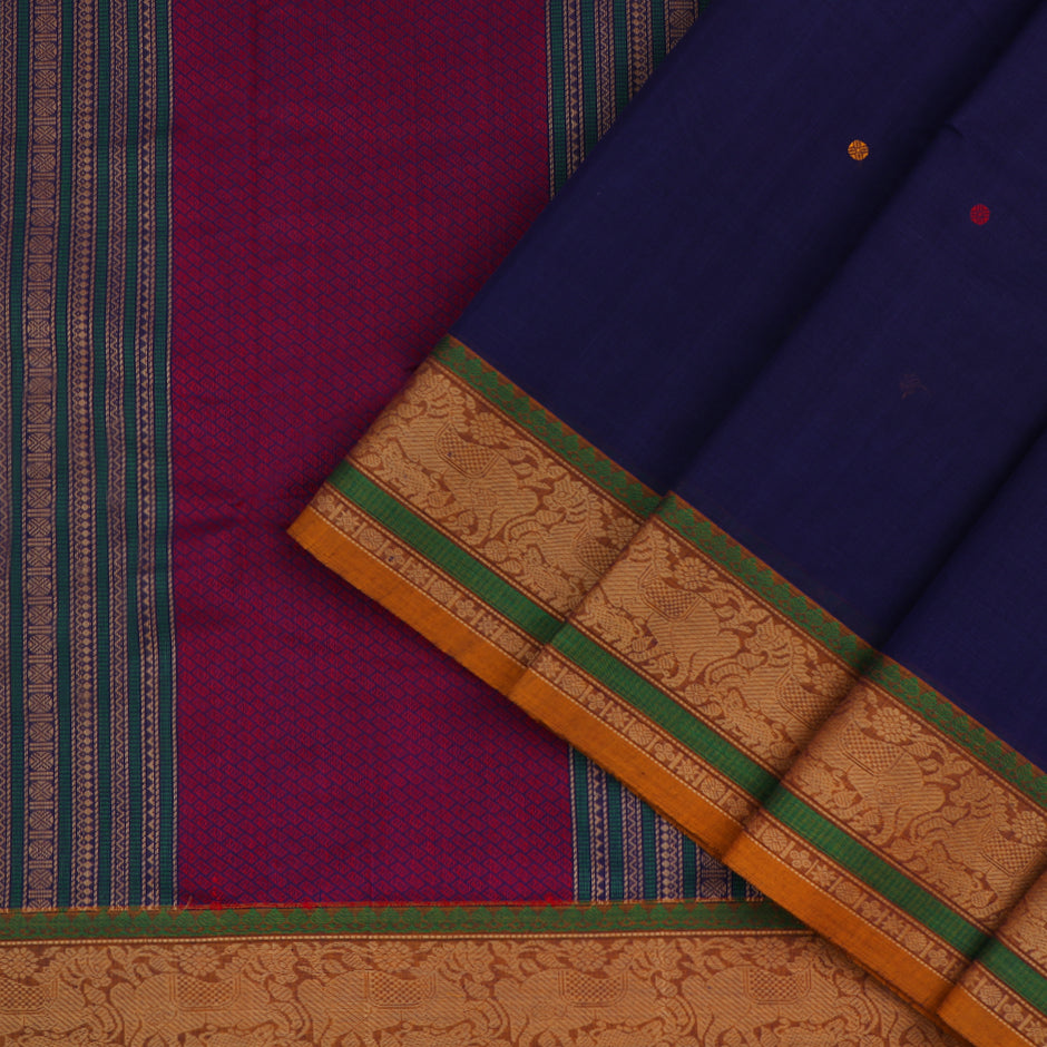 Kanakavalli Kanchi Cotton Sari 071-09-47687 - Cover View