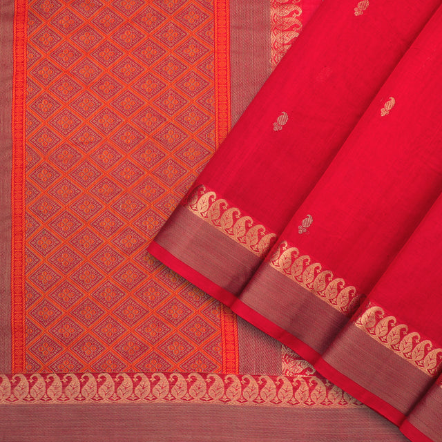 Kanakavalli Kanchi Cotton Sari 071-09-92217 - Cover View