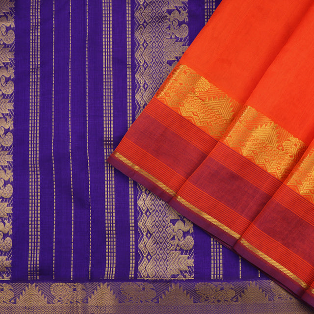 Kanakavalli Silk/Cotton Sari 100-08-52477 - Cover View