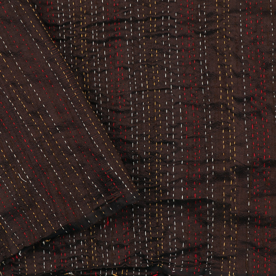 Kanakavalli Kantha Raw Silk Blouse Length 150-06-9694 - Cover View
