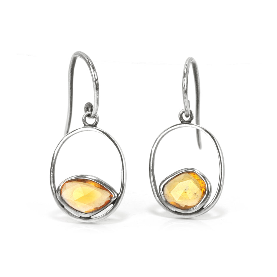 Ahalya Silver & Orange Sapphire Earring 13_2500 - Cover View