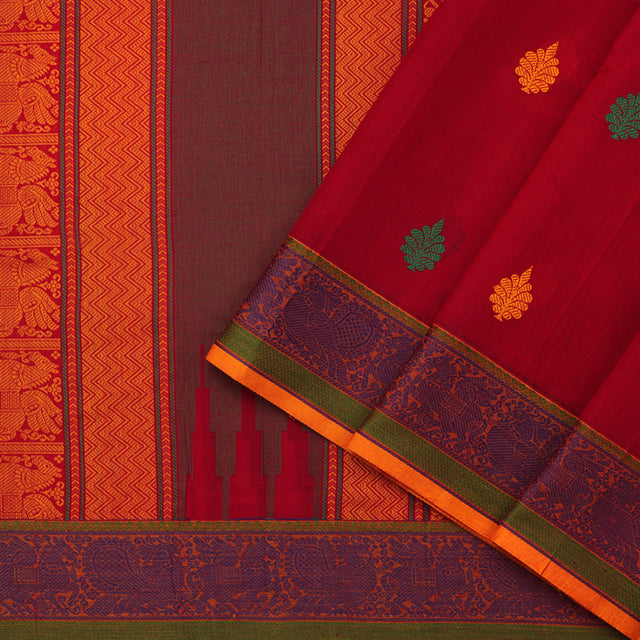 Kanakavalli Kanchi Cotton Sari 071-09-75937 - Cover View