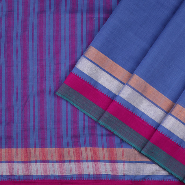 Kanakavalli Mangalgiri Cotton Sari 260-11-49445 - Cover View