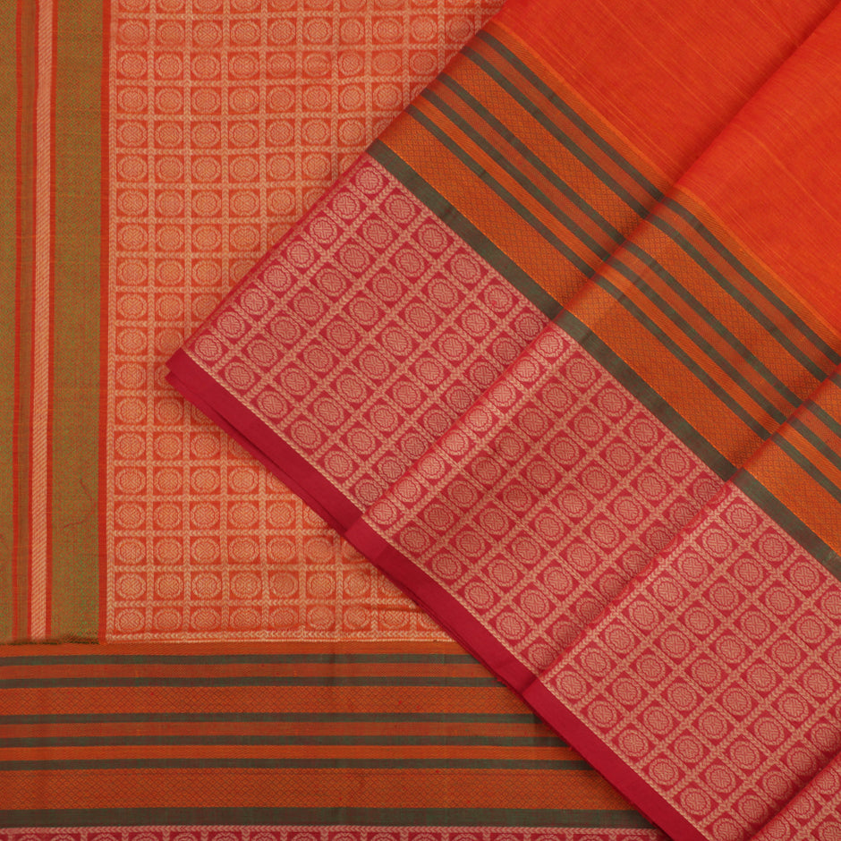 Kanakavalli Kanchi Cotton Sari 071-09-41579 - Cover View