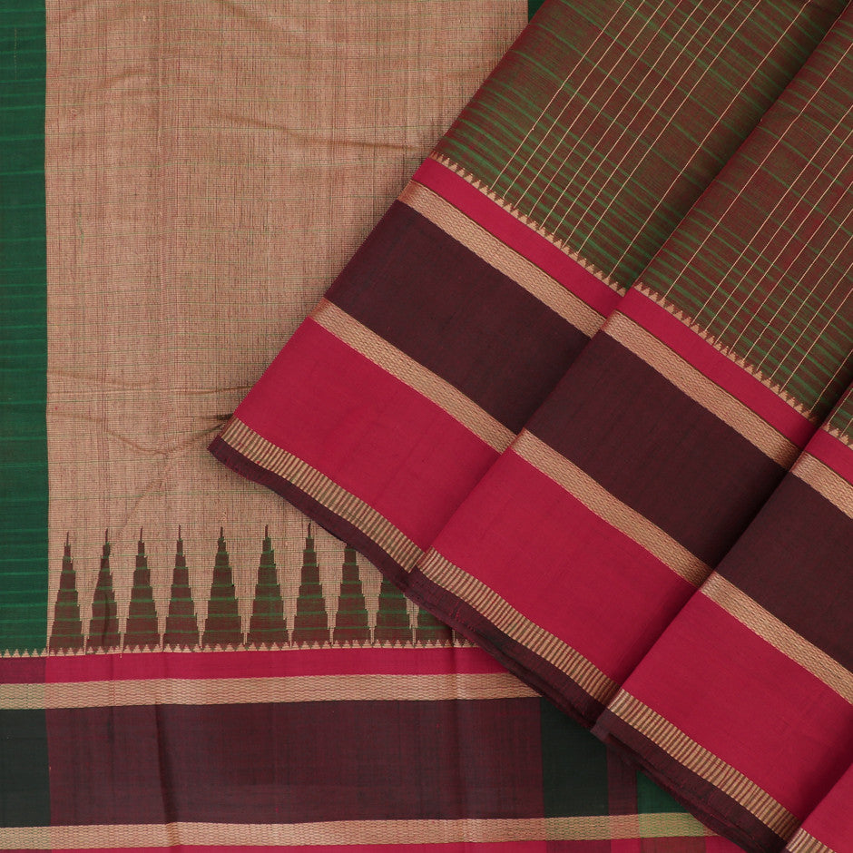 Kanakavalli Kanchi Cotton Sari 071-09-29521 - Cover View