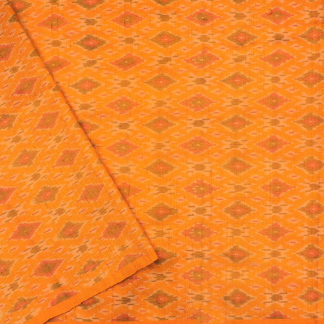 Kanakavalli Ikat Raw Silk Blouse Length 585-06-65148 - Cover View