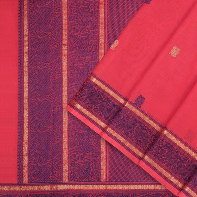 Kanakavalli Kanchi Cotton Sari 071-09-86031 - Cover View