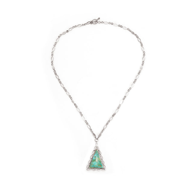 Ahalya Silver, Turquoise Chain with Pendent 16_2775 - Cover View