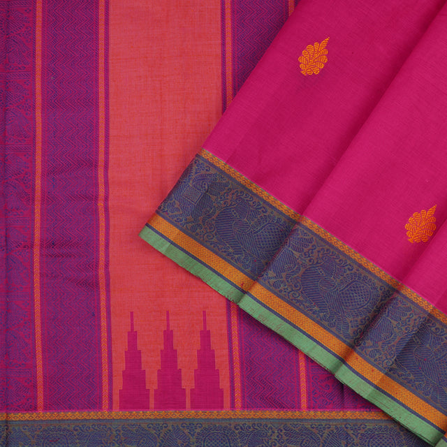 Kanakavalli Kanchi Cotton Sari 071-09-56360 - Cover View