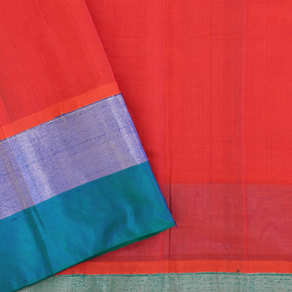 Kanakavalli Mangalgiri Cotton Sari 260-11-26499 - Blouse View 2