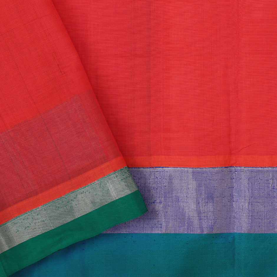 Kanakavalli Mangalgiri Cotton Sari 260-11-26499 - Blouse View