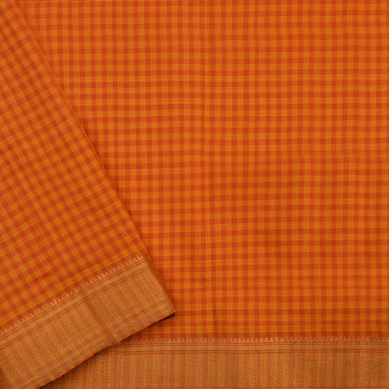 Kanakavalli Mangalgiri Cotton Sari 261-11-110782 - Blouse View