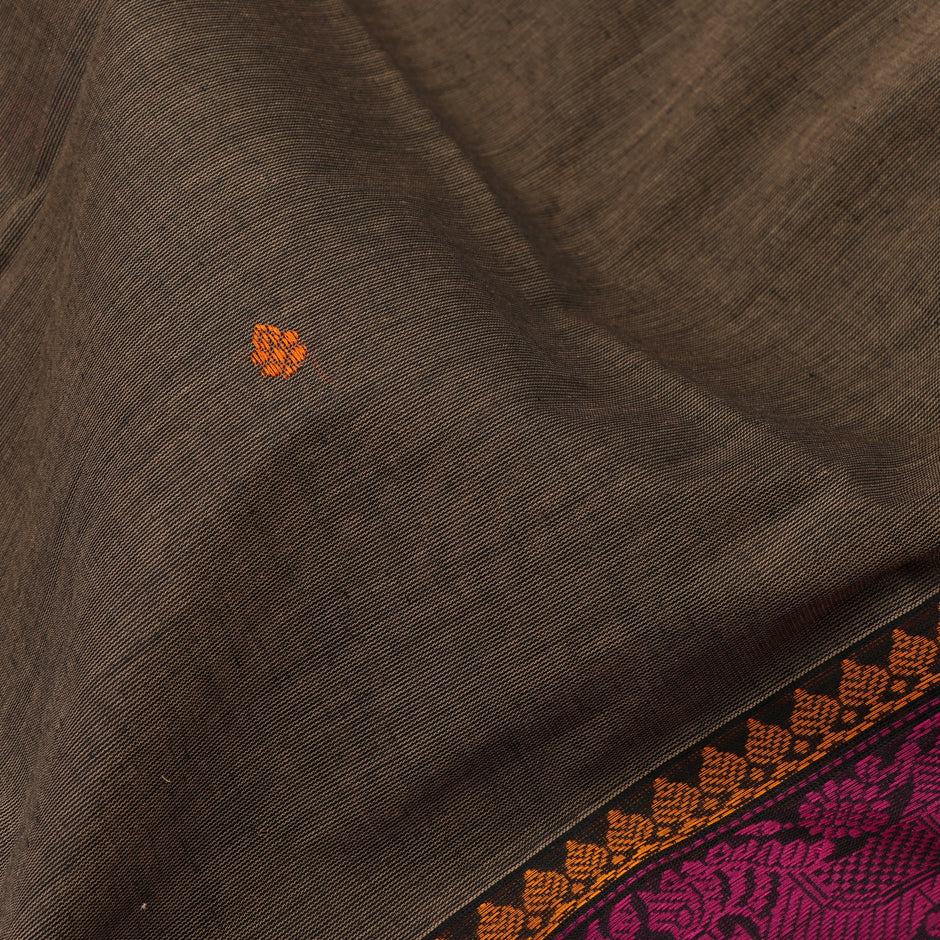 Kanakavalli Kanchi Cotton Sari 071-09-59543 - Fabric View