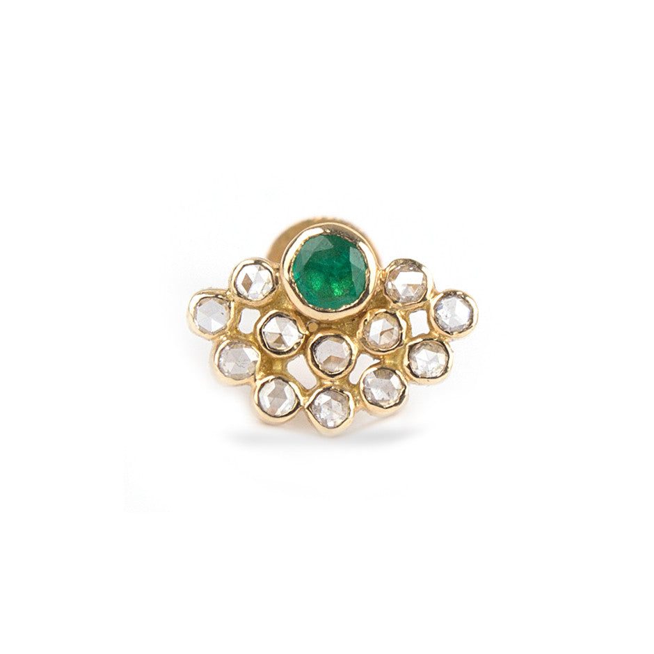 Ahalya Emerald & Rosecut Diamond Nosepin 0208090036A1 - Cover View