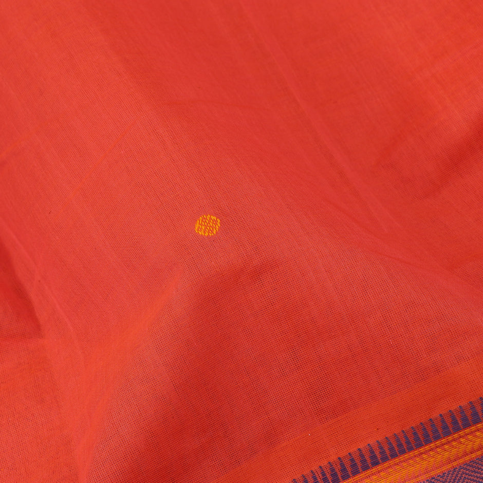 Kanakavalli Kanchi Cotton Sari 071-09-61771 - Fabric View