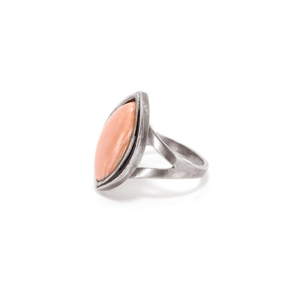 Ahalya Silver &  Opal Ring 14_4331 - Full View