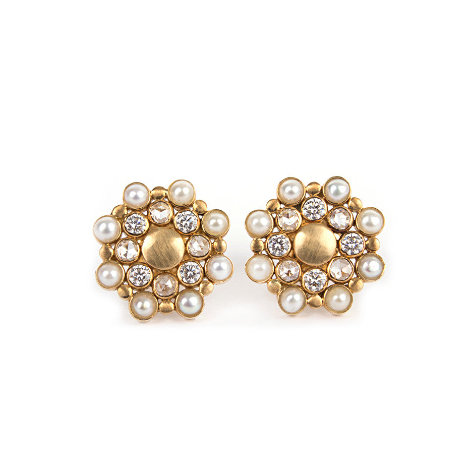 Ahalya Gold, Diamond & Pearl Earrings 0208060023A1 - Cover View