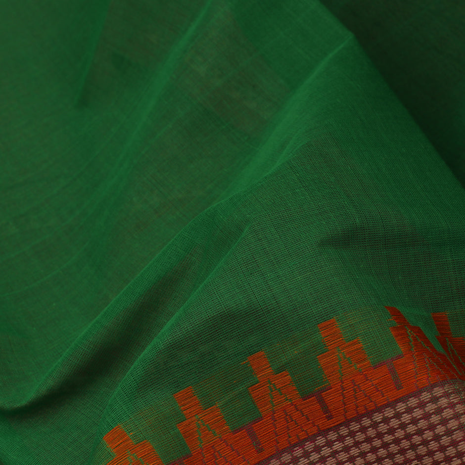 Kanakavalli Kanchi Cotton Sari 071-09-35651 - Fabric View