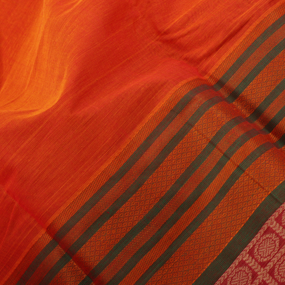 Kanakavalli Kanchi Cotton Sari 071-09-41579 - Fabric View
