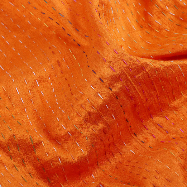 Kanakavalli Kantha Raw Silk Blouse Length 150-06-9691 - Fabric View