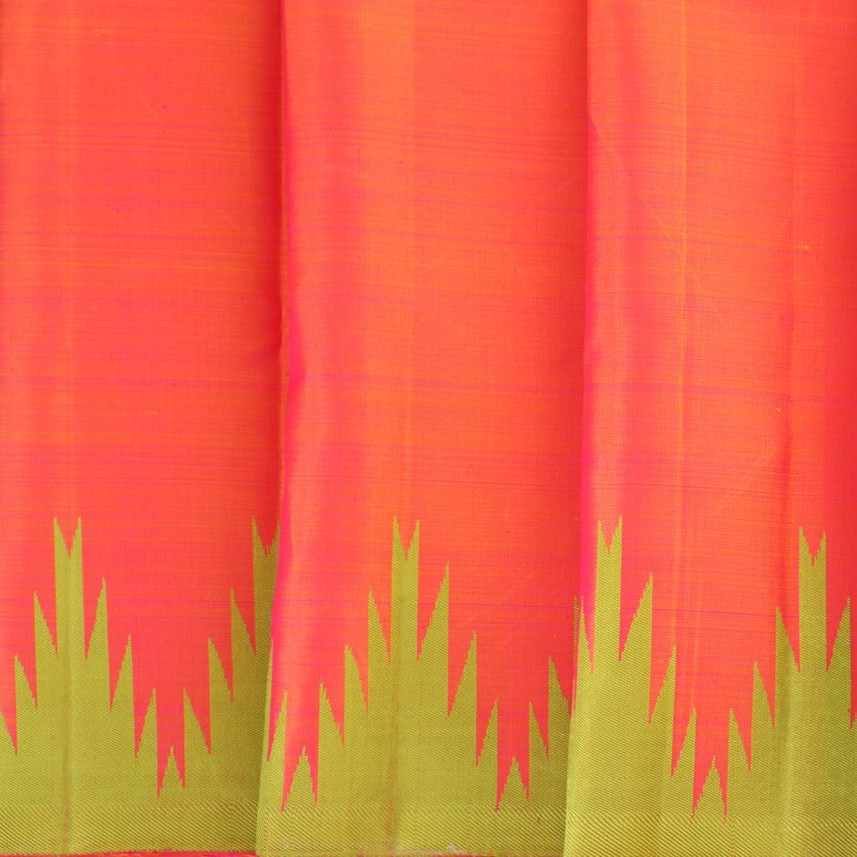 Kanakavalli Kanjivaram Silk Pavadai Length 011-16-30138 - Pleated View
