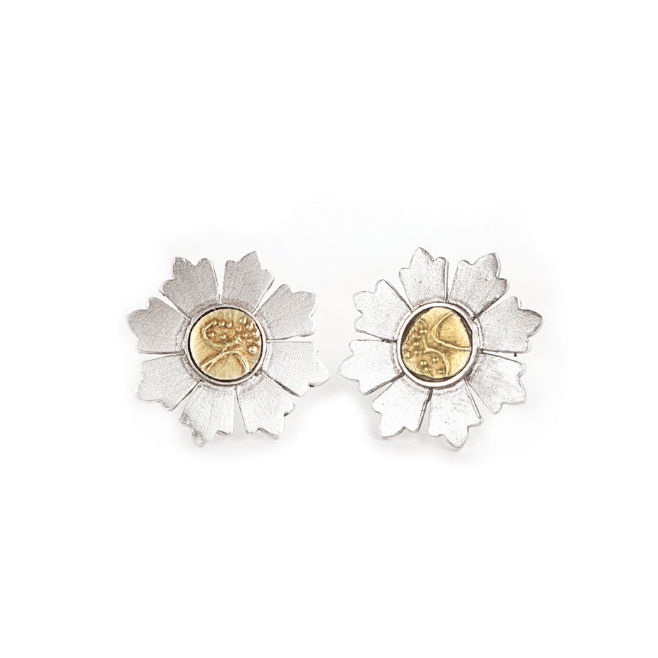 Ahalya Silver & Gold Coin Earrings 0207060011A1 - Cover View