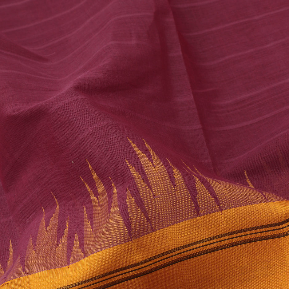Kanakavalli Kanchi Cotton Sari 071-09-61464 - Fabric View