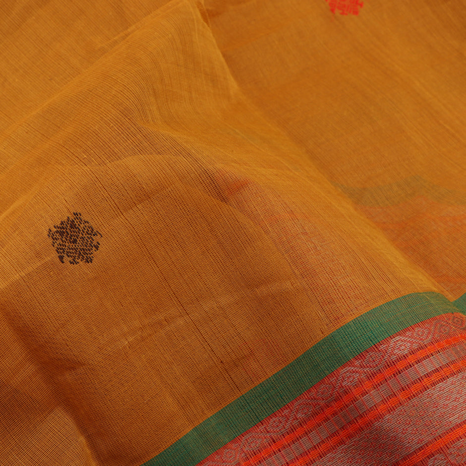Kanakavalli Kanchi Cotton Sari 071-09-56438 - Fabric View