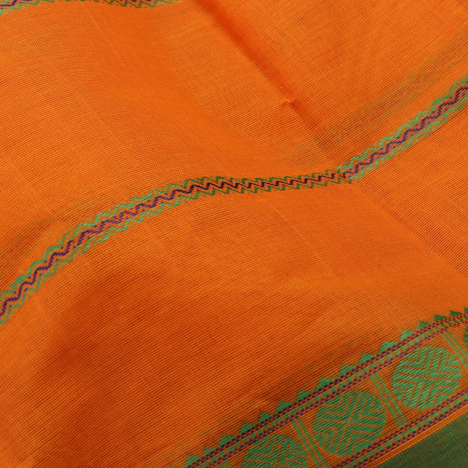 Kanakavalli Kanchi Cotton Sari 071-09-56374 - Fabric View