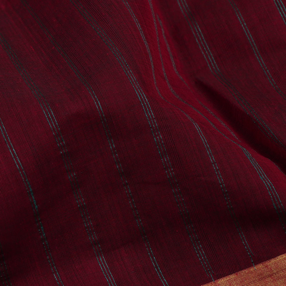 Kanakavalli Kanchi Cotton Sari 071-09-47781 - Fabric View