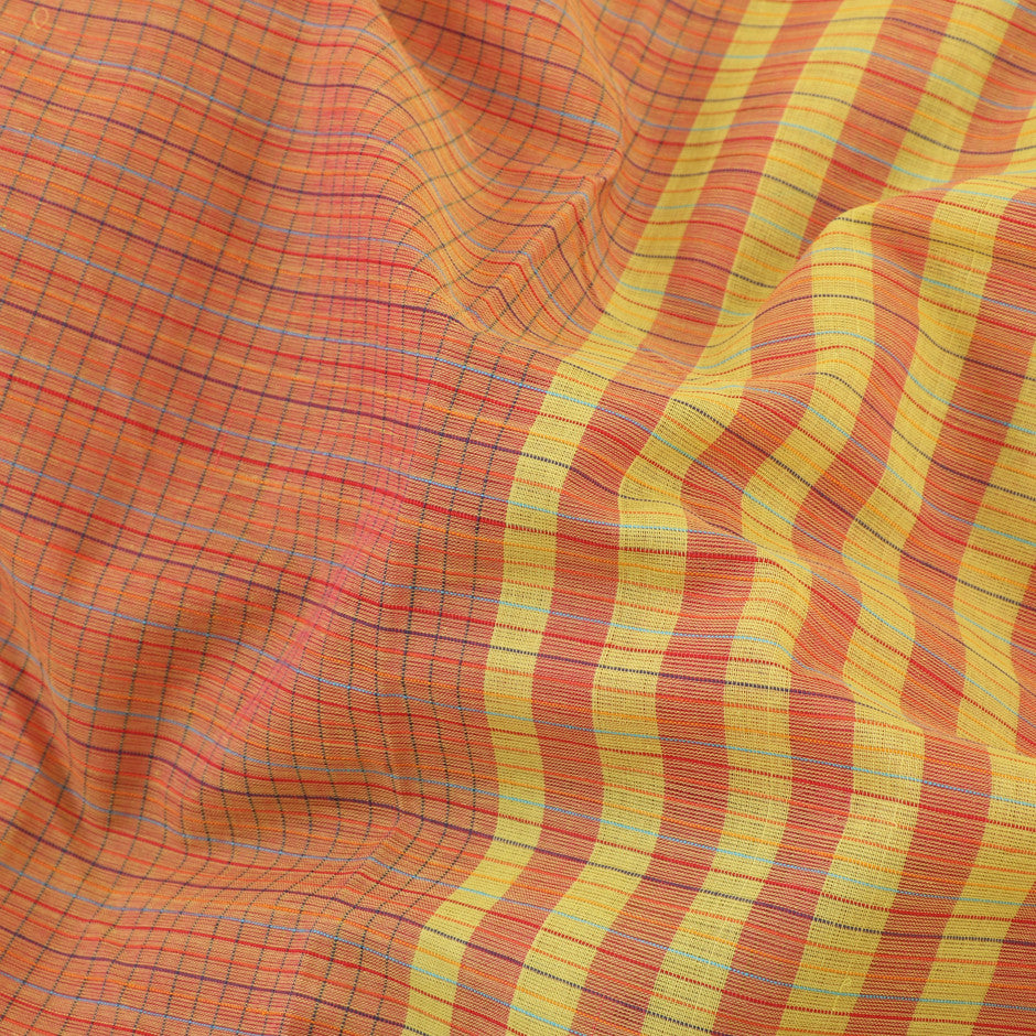 Kanakavalli Mangalgiri Cotton Sari 260-11-26467 - Fabric View